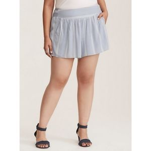 [3X] Torrid - Striped Gauze Shorts